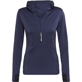 Peak Performance Civil Mid Hood Sweatshirt Women Blue Mountain